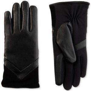 Isotoner SleekHeat Leather Touchscreen Tech Gloves